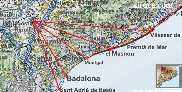 5 manera de llegar al mar desde La Llagosta