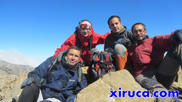El grupo en el Pico de Añisclo