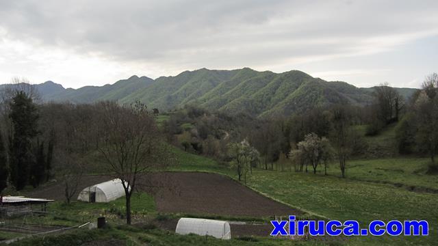 Serra de Curull desde Vidrà