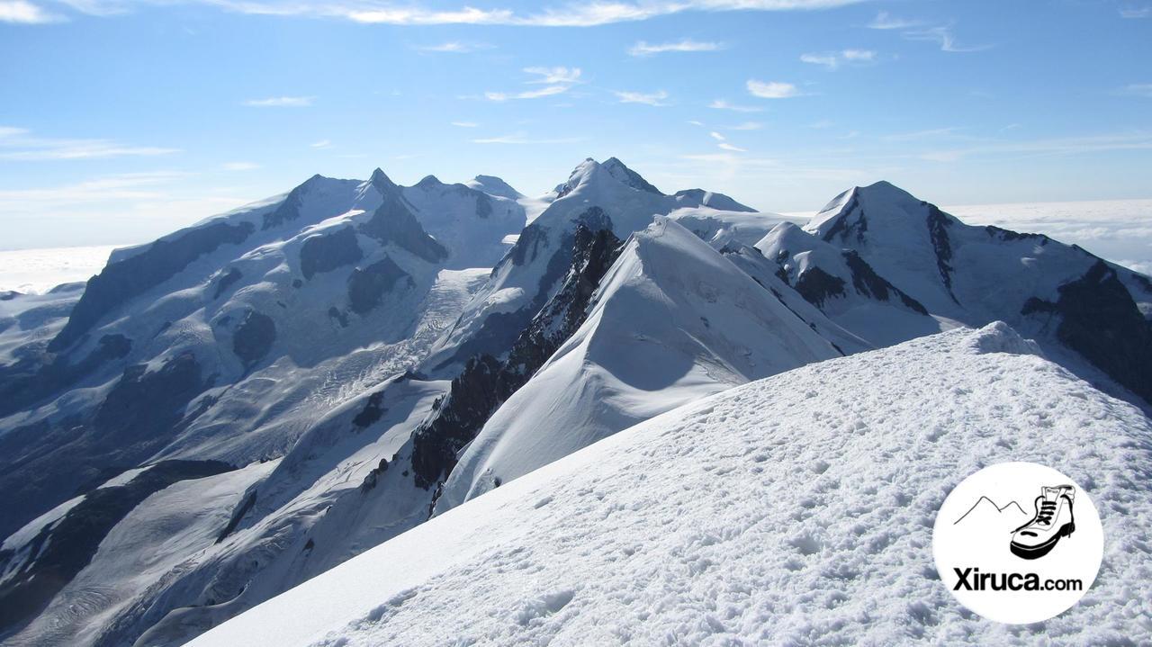 Parte central del macizo de Monte Rosa