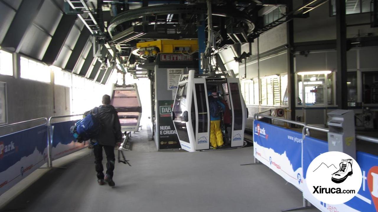 Primer teleférico a Plateau Rosa