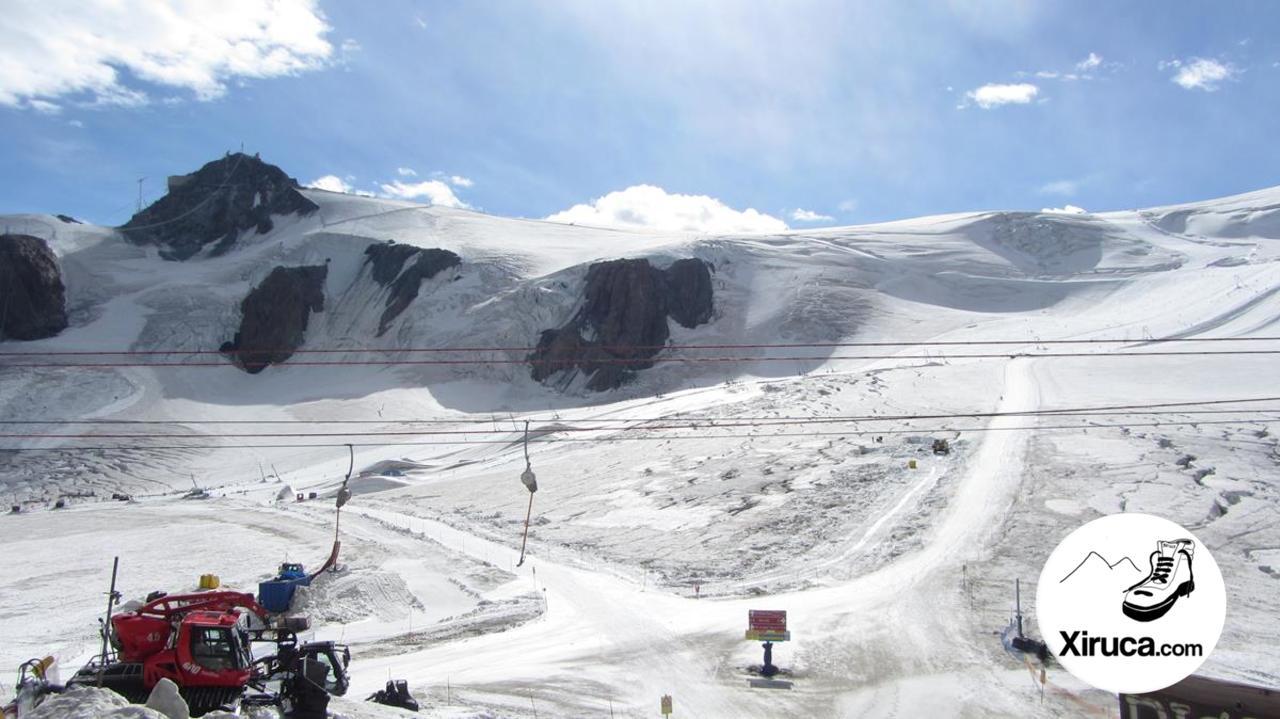 Klein Matterhorn y pista de esquí desde Plateau Rosa