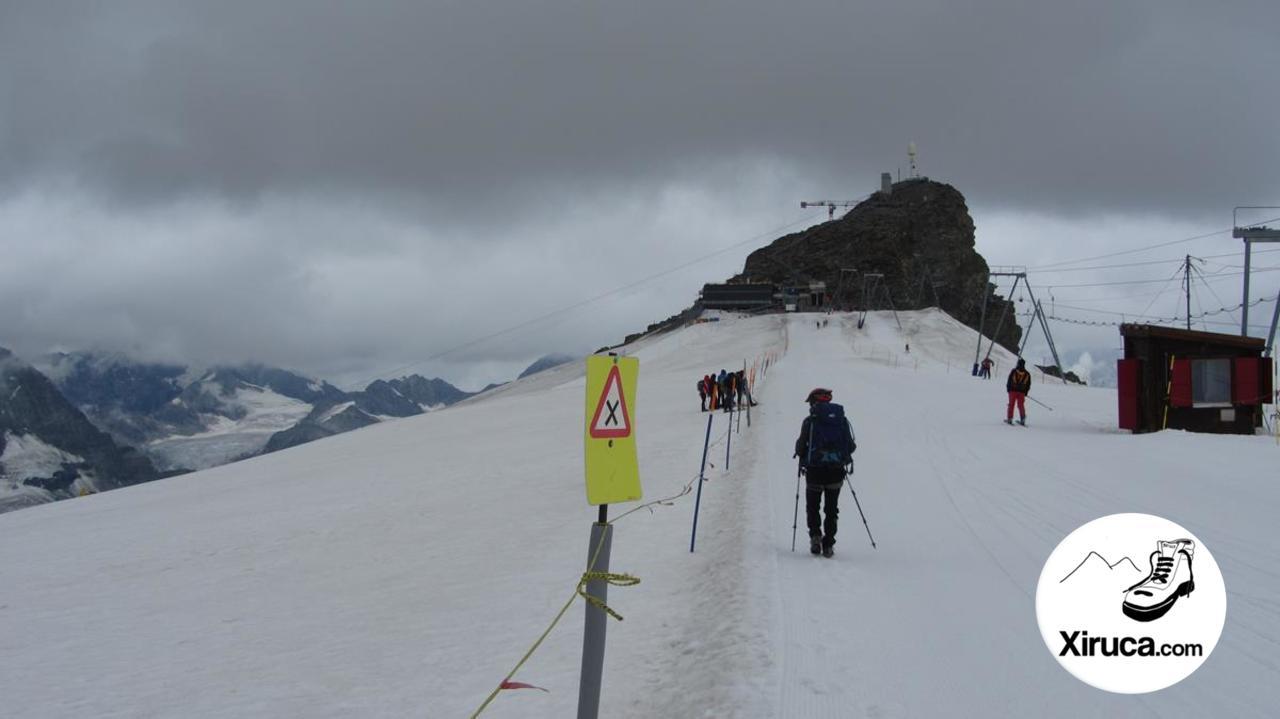Llegando al Klein Matterhorn