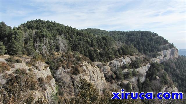 Mirada atrás a la Serra dels Tossals