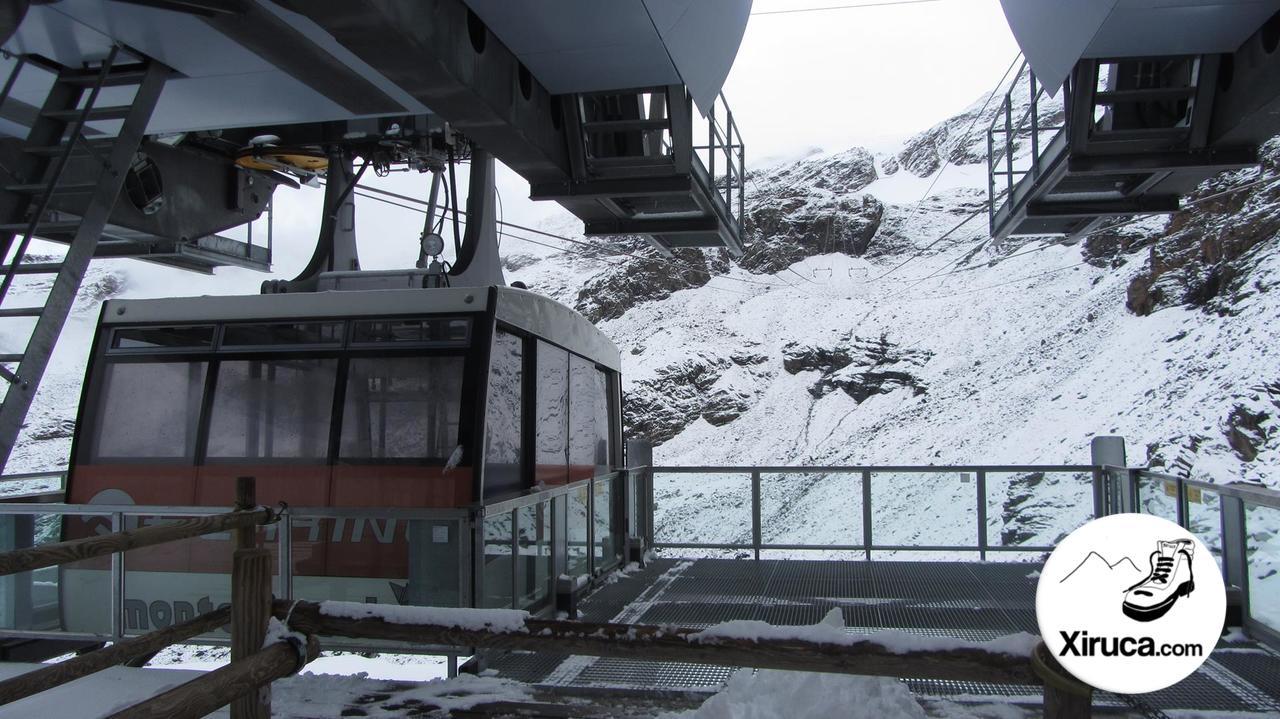 Plataforma del teleférico a la Punta Indren