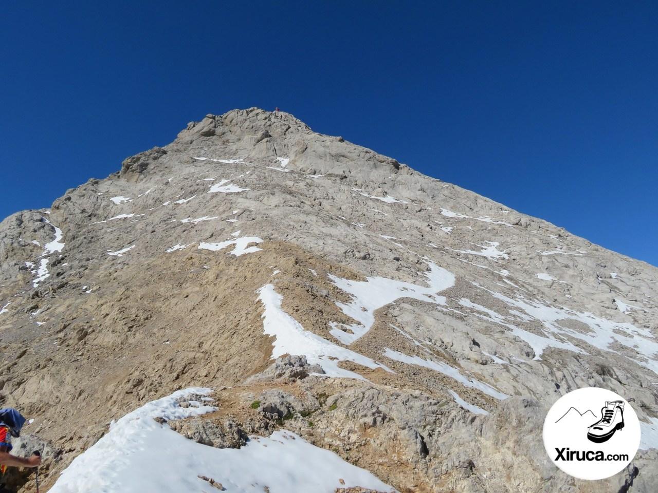 Ascenso final al Pico Tesorero