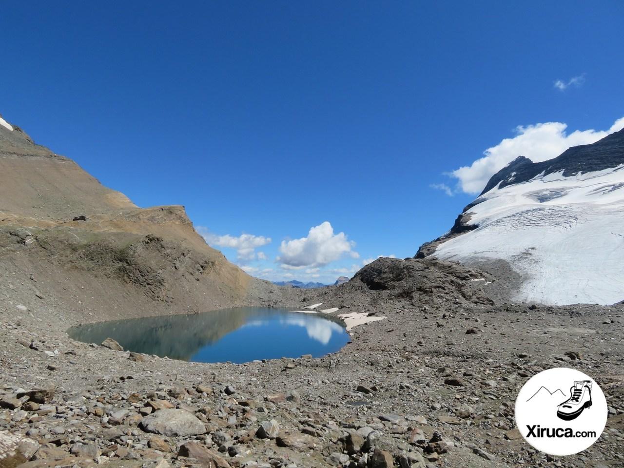 Chaltwassersee y glaciar de Monte Leone