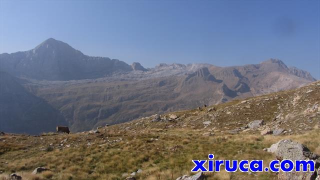 Peña de Otal y Tendeñera desde la Faja Basarán