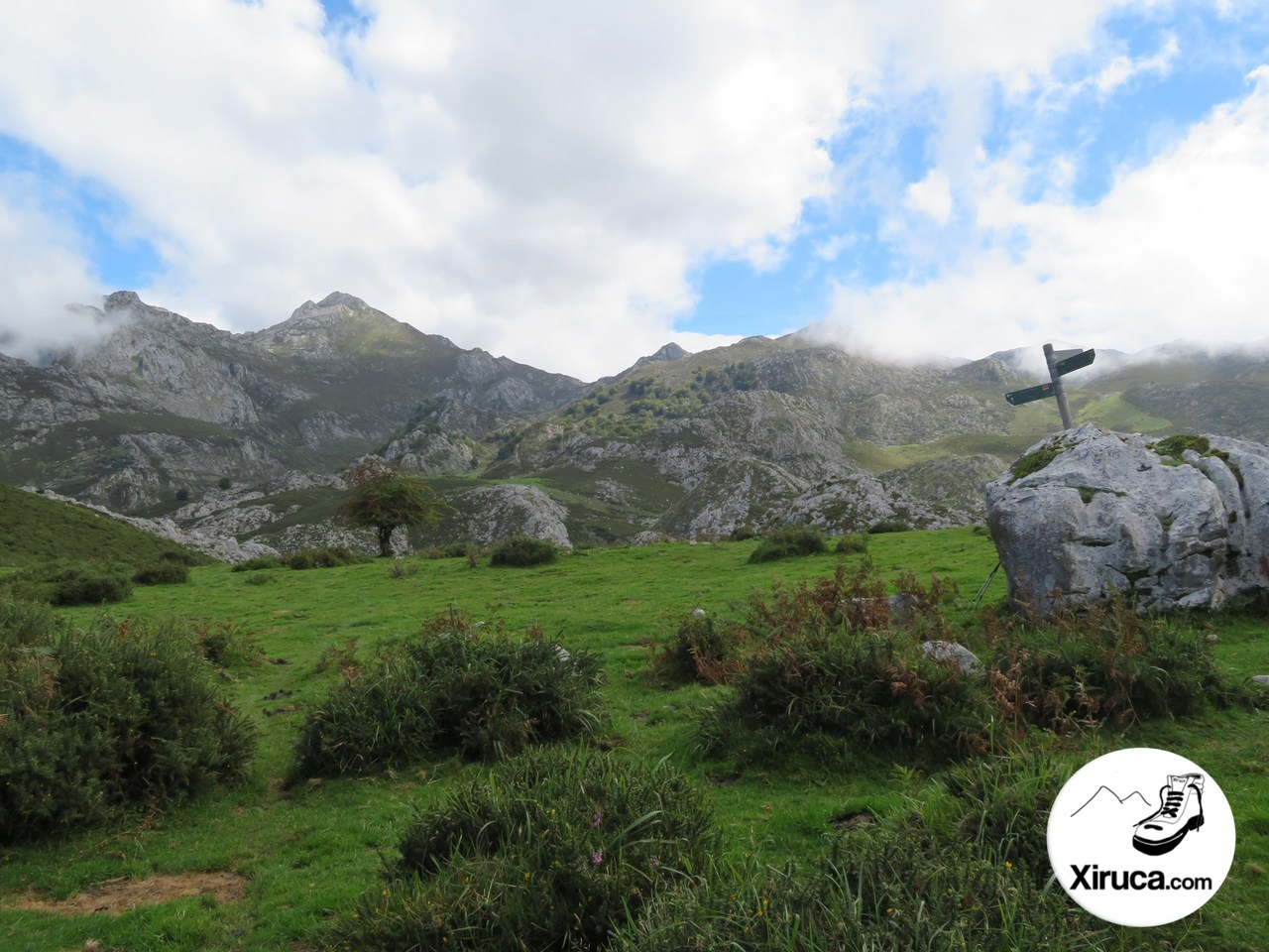Indicación Lagos de Covadonga
