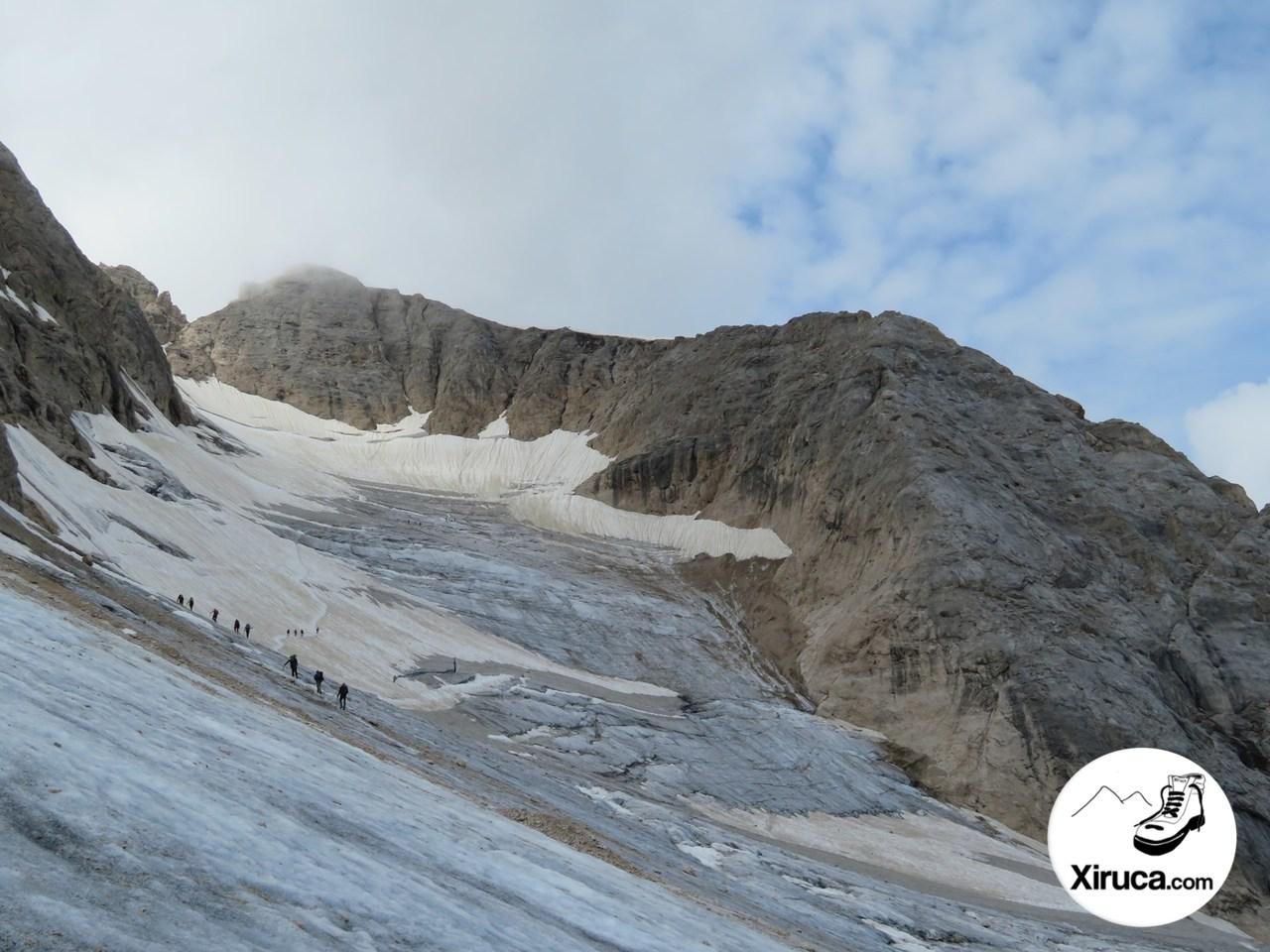 Entrada al Glaciar de la Marmolada