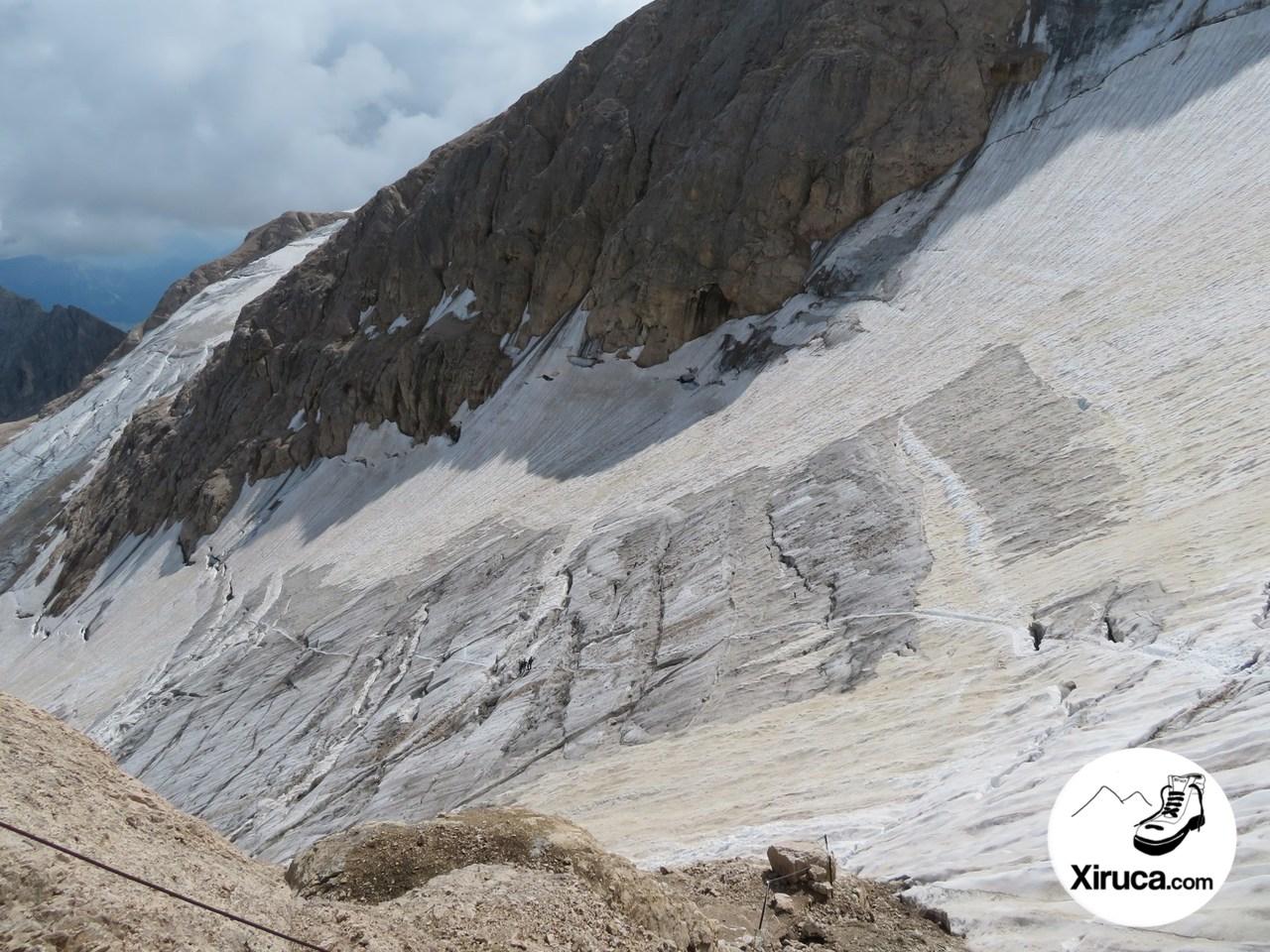 Glaciar de la Marmolada desde entrada a ferrata