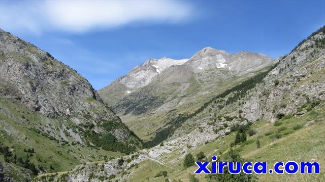Vista del Vignemale camino de la Cabaña del Cerbillonar