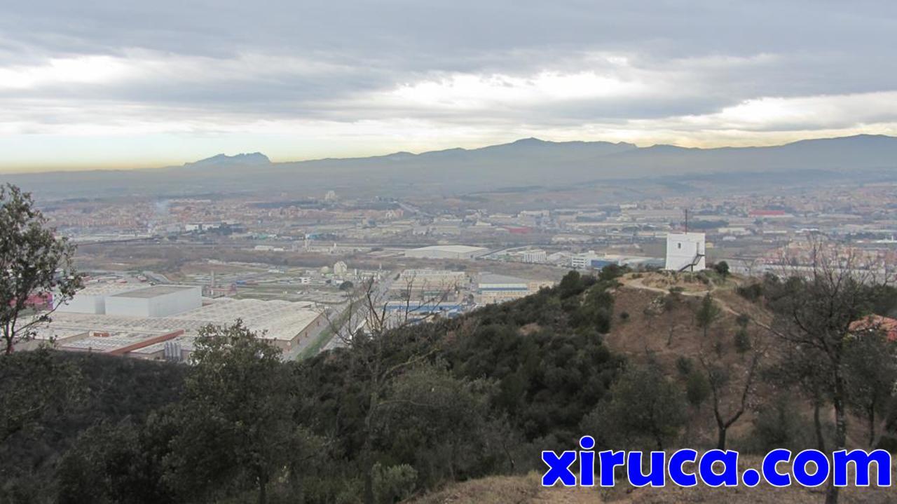 Montserrat, La Mola y Torre del Telègraf desde Turó del Telègraf