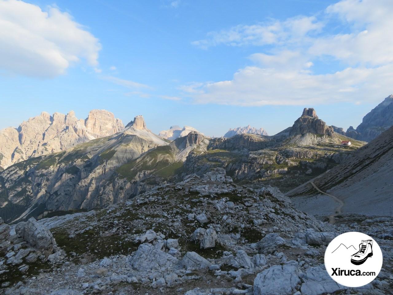 Cimas del Parque Natural de Tre Cime y Rifugio Locatelli