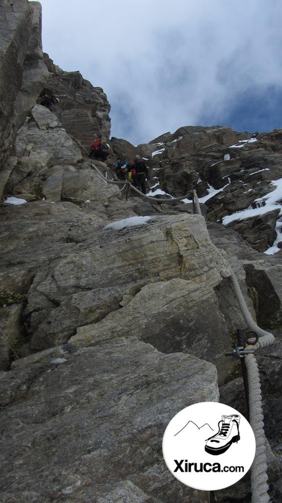 Pasos equipados hacia el Glaciar Indren