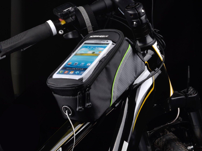 Bolsa frontal de bici sobre cuadro para smartphone