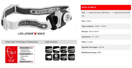 Linterna frontal Led Lenser SEO 5