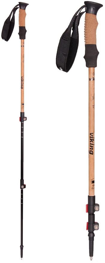 Bastones de treking Viking de bambú y corcho