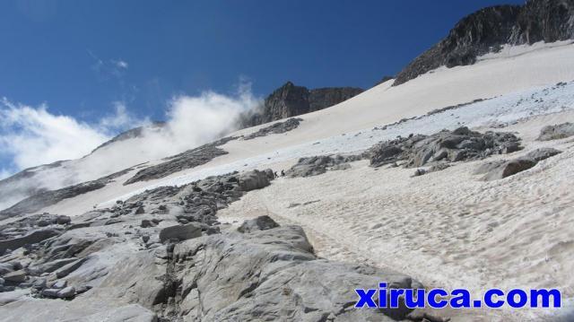 Mirada atrás al Glaciar de Aneto