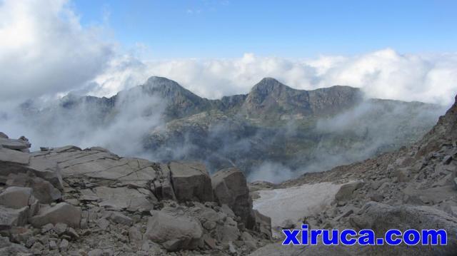 Pico de la Montañeta y Pico Salbaguardia desde el Portillón Superior