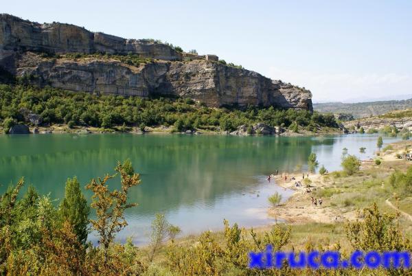 Baño en el desfiladero de Mont Rebei, río Noguera Ribagorçana