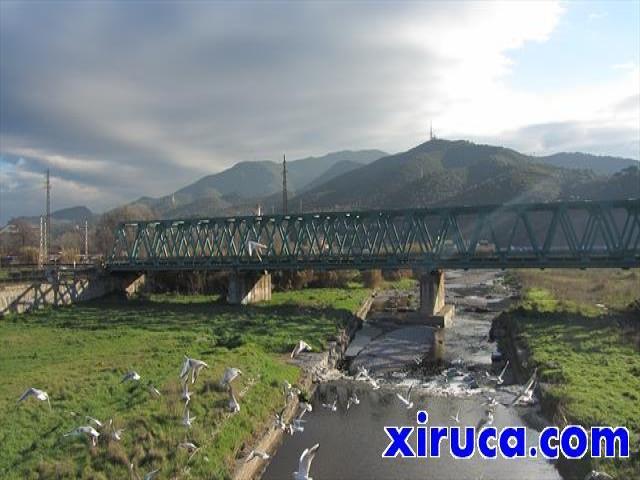 Serralada de Marina desde el puente sobre el Río Ripoll