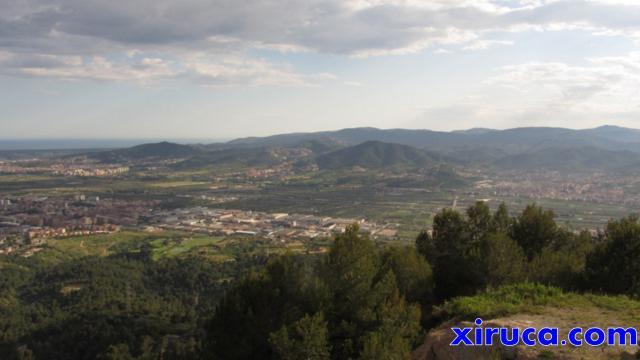 Vista hacia la costa desde el Puig d'Olorda