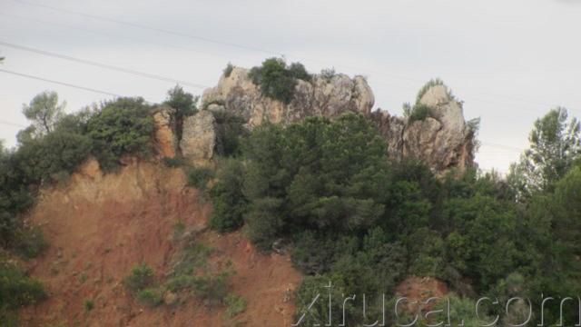 Formación rocosa de Les Escletxes