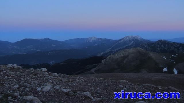 Serra d'Ensija, Pedraforca y Cadí desde el Puigllançada