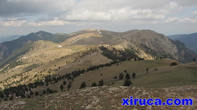 Serra d'Ensija desde el Cap de la Gallina Pelada