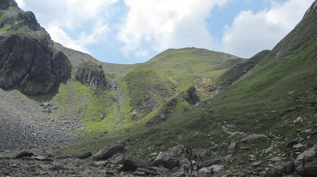 Últimas rampas al Col du Bonhomme