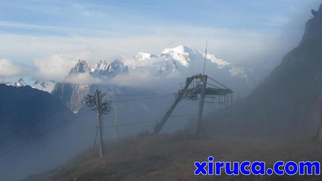 Mont Blanc desde los remontes de Col de Balme