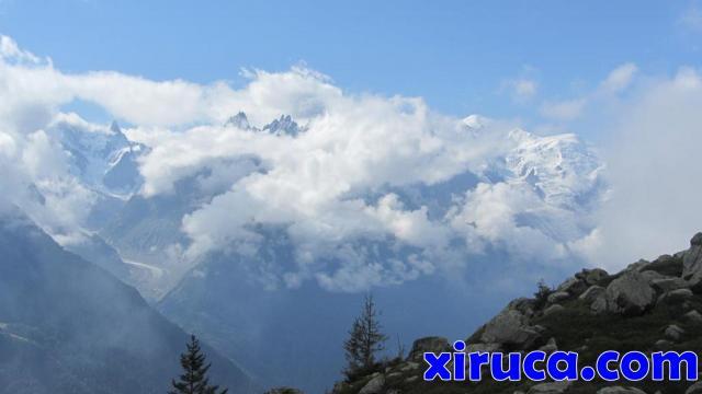 Mont Blanc llegando a Tête aux Vents