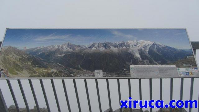 Plafón con vistas desde Le Brévent