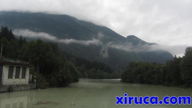 Arve a su paso por Les Houches