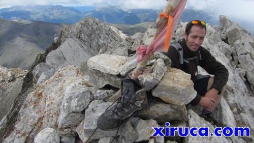 Xiruca y Toni en la cima del Vallibierna