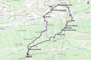 Croquis de la ruta a Bellmunt y al Salt del Molí desde Vidrà