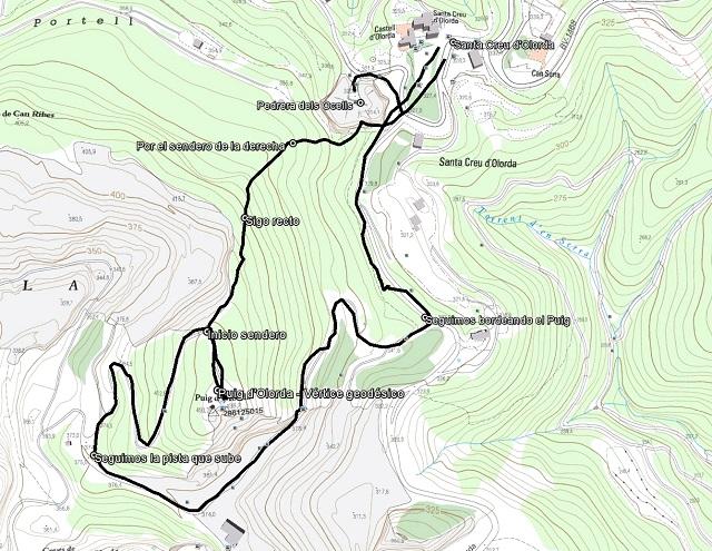Croquis de la ruta al Puig d'Olorda