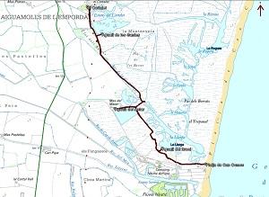 Croquis de la ruta por Aiguamolls de l'Empordà