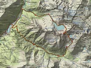 Croquis de la ruta al Aragüells