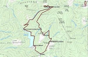 Croquis de la ruta al Castanyer Gros de Can Cuch