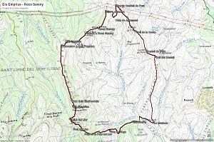 Croquis de la ruta a Els Emprius y a Roca Sareny