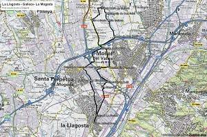 Croquis de la ruta a Gallecs y a La Mogoda
