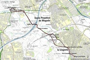 Croquis de la ruta a Santiga