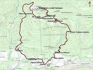 Croquis de la ruta a la Mare de Déu del Mont