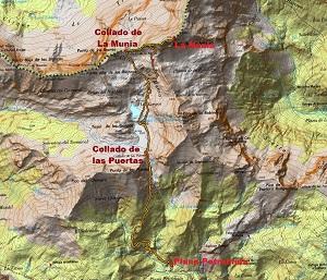 Croquis de la ruta a La Munia