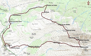 Croquis de la ruta al Pedraforca desde Gósol