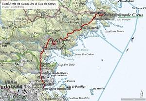 Croquis del Camí Antic de Cadaqués al Cap de Creus