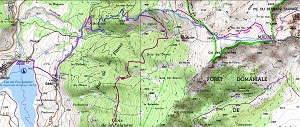 Croquis de la ruta circular al Roc de Madres