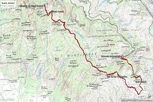 Croquis de la ruta a Sant Jeroni